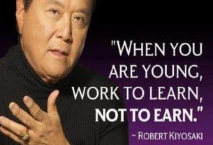 WORK TO LEARN DON'T WORK FOR MONEY